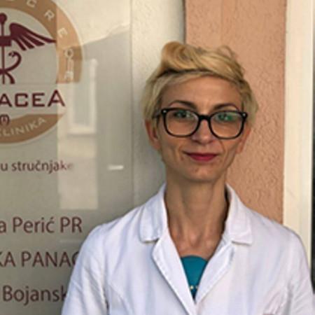 Dr Tijana Radović jespecijalista radiologije sa dugogodišnjim radnim iskustvom. Trenutno je na doktorskim studijama. Radi u Beogradu.